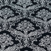 Black & White Damask Pattern - 100% Viscose Print
